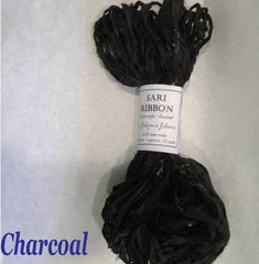 Sari Silk Ribbon Charcoal Black