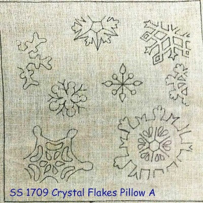 Crystal Flakes Pillow A - Seaside Rug Hooking Company Pattern