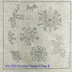 Crystal Flakes Pillow B - Seaside Rug Hooking Company Pattern