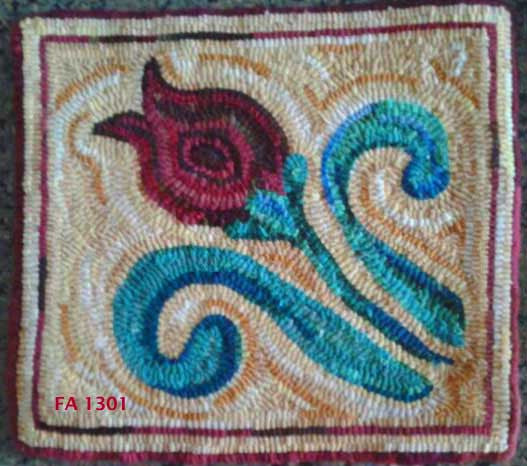 April - Seaside Rug Hooking Company Pattern