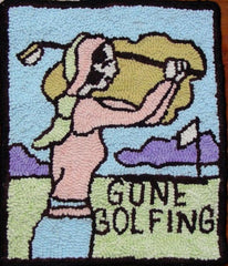 Gone Golfing Kit - Seaside Rug Hooking Company Kit
