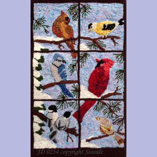 Window Birds - Seaside Rug Hooking Company Pattern