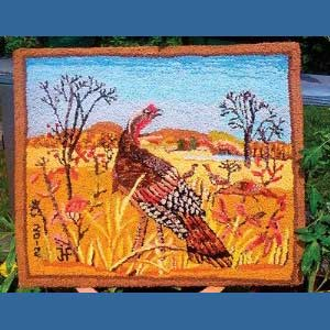 Wild Turkey Pattern - Seaside Rug Hooking Company Pattern