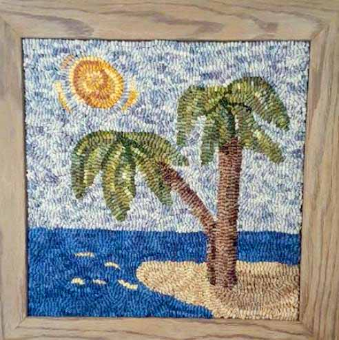 Palm Island - Seaside Rug Hooking Company Pattern