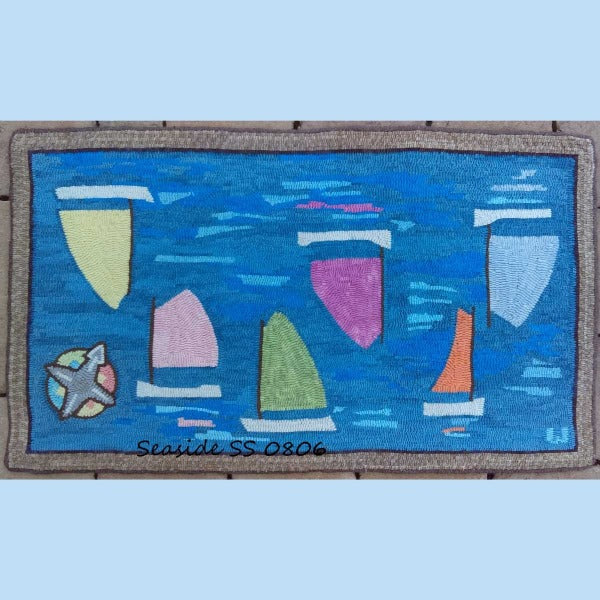 Becalmed Boats - Seaside Rug Hooking Company Pattern