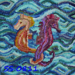 Seahorses Two - Seaside Rug Hooking Company Pattern