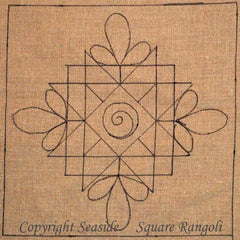Square Rangoli - Seaside Rug Hooking Company Pattern