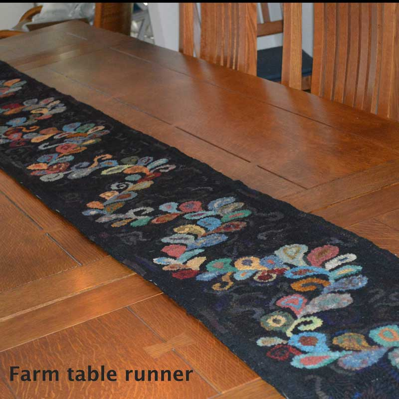 Farm table runner - Seaside Rug Hooking Company Pattern
