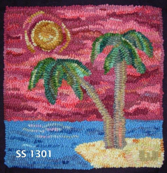 Palm Island Kit - Seaside Rug Hooking Company Kit