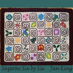Sazerac Six by Six - Seaside Rug Hooking Company Pattern
