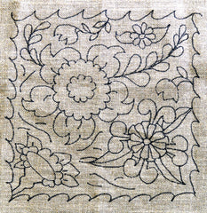 Talavera Floral Pilllow - Seaside Rug Hooking Company Pattern