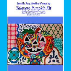Talavera Pumpkin Kit with Pattern and Wool Strips