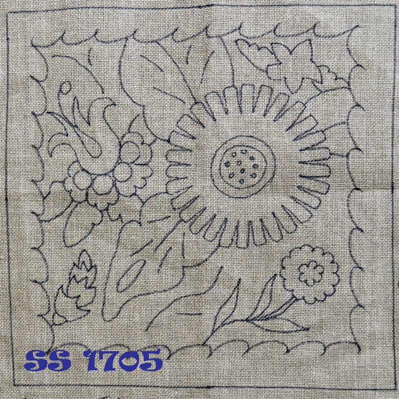 Talavera Sunflower Pillow - Seaside Rug Hooking Company Pattern