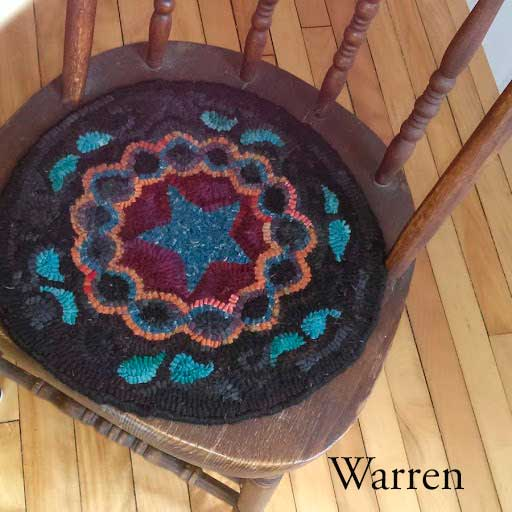 Warren Chair Pad - Seaside Rug Hooking Company Pattern