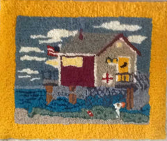 Beach House Pattern - Seaside Rug Hooking Company Pattern