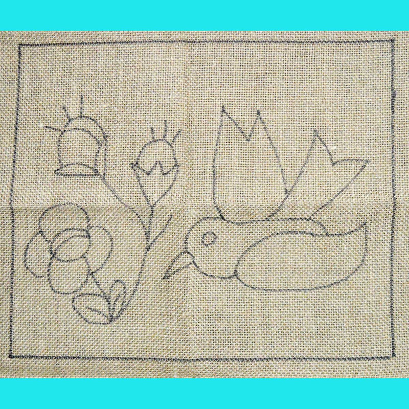 Waldoboro Bird Floral - Seaside Rug Hooking Company Pattern