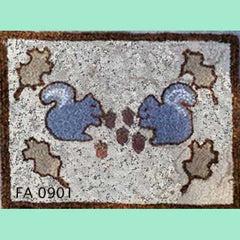 Two Squirrels - Seaside Rug Hooking Company Pattern