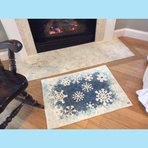 Crystal Flakes Rug - Seaside Rug Hooking Company Pattern