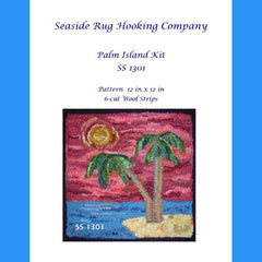 Palm Island Kit - Seaside Rug Hooking Company