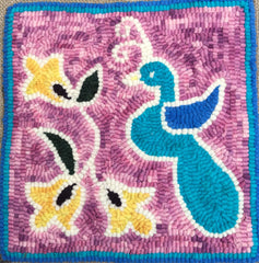 Peacock - Seaside Rug Hooking Company Pattern