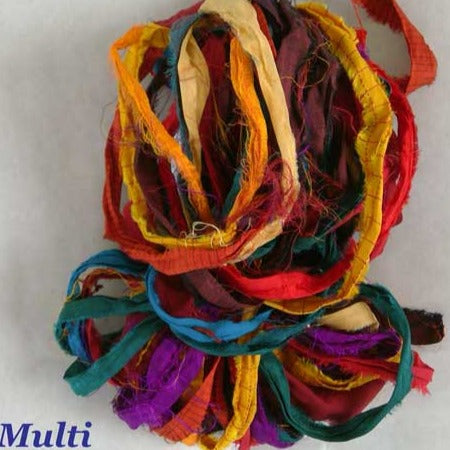 Sari Silk Ribbon - Multicolor *