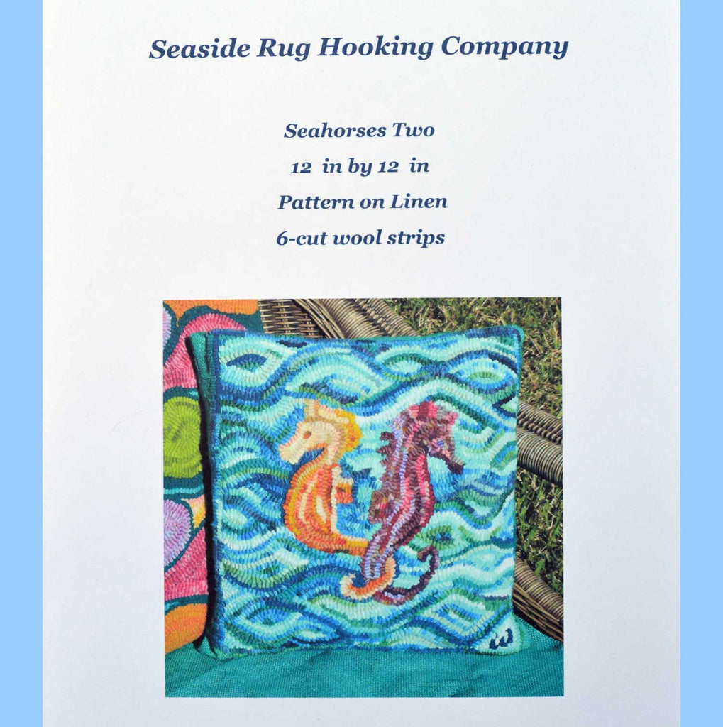 Seahorses Two Kit - Seaside Rug Hooking Company Kit
