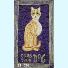 Curb Your Dog - Seaside Rug Hooking Company Pattern