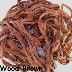 Sari Silk Ribbon - Wood Brown