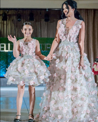 Finale walk with Designer Liliya Dilanyan and her daughter Aida Isabella