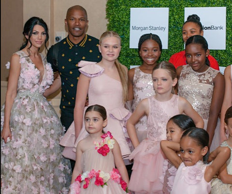 Liliya Dilanyan, Jamie Foxx and the models at the 8th Annual LadyLike Foundation