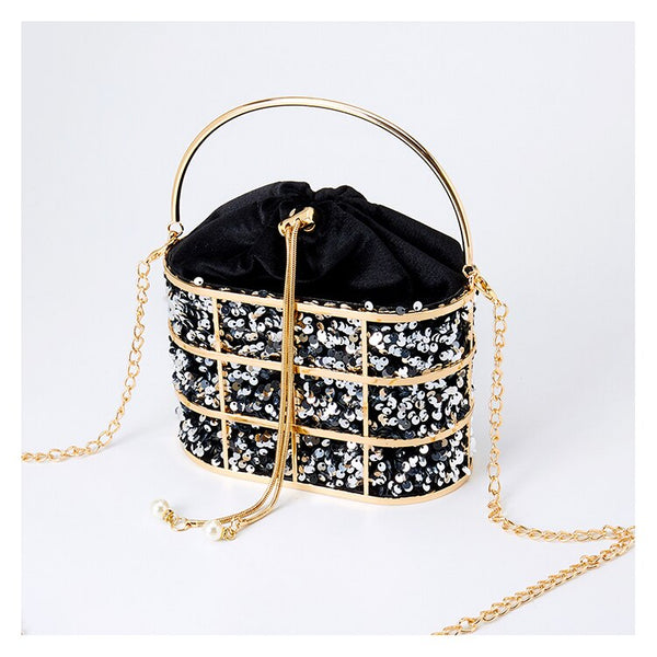 SOLD OUT Luxury Silver/Gold Bag
