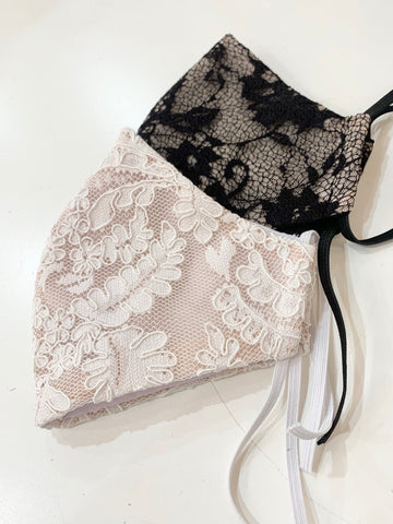 2- SET BRIDAL LACE NON-MEDICAL FASHION MASK