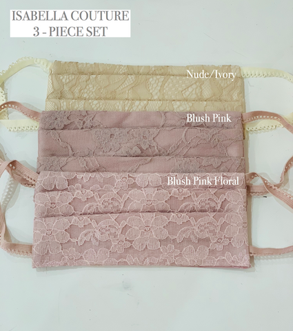 3 SET / NON-MEDICAL BLUSH PINK FASHION MASK