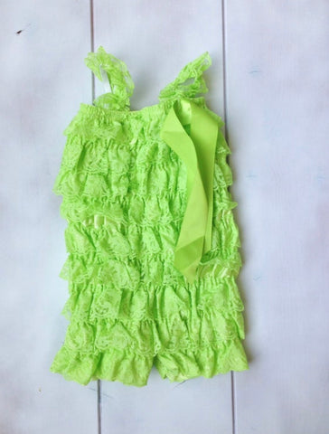SALE - LIME LACE ROMPER