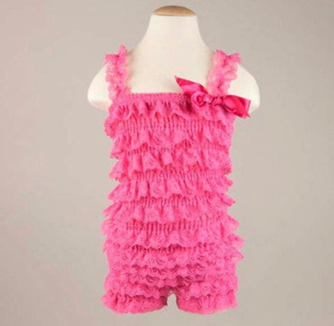 SALE - HOT PINK ROMPER