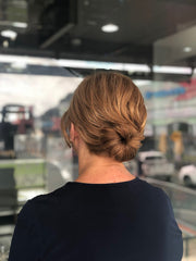 Low bun for wedding day