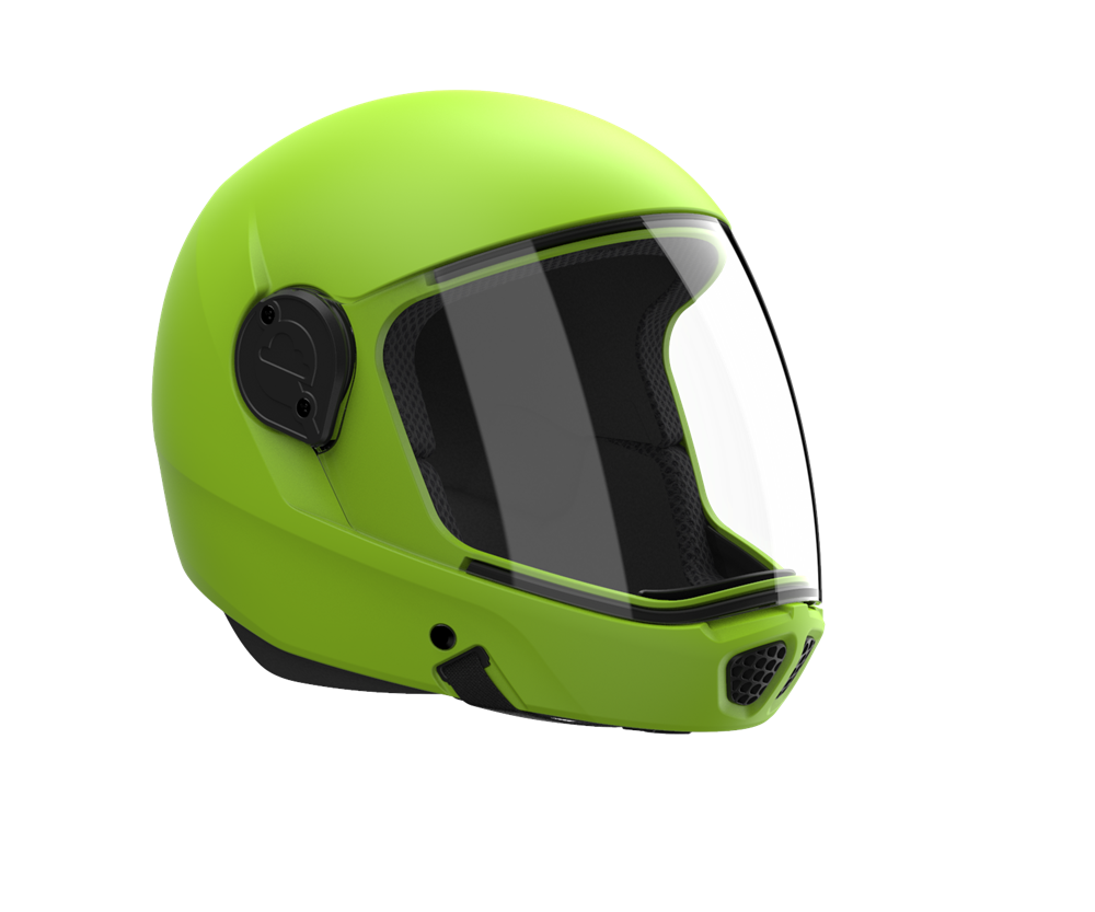 White//Lime Large Helmet Infinity