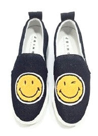 Dark Denim Smiley Face Slip-On