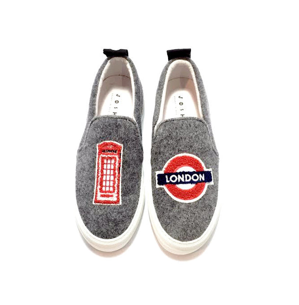 Grey London Slip-On Sneakers