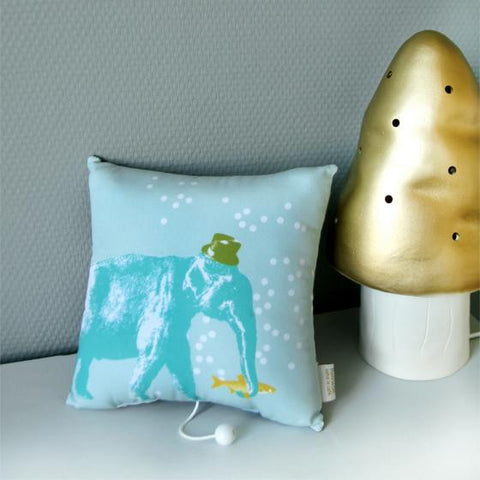 Musical Elephant Pillow 'La javanaise'