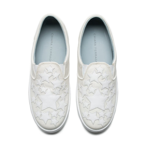 White Stars Slip-On Sneakers