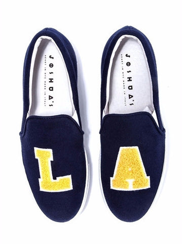 LA Blue Jersey Slip-On Sneakers