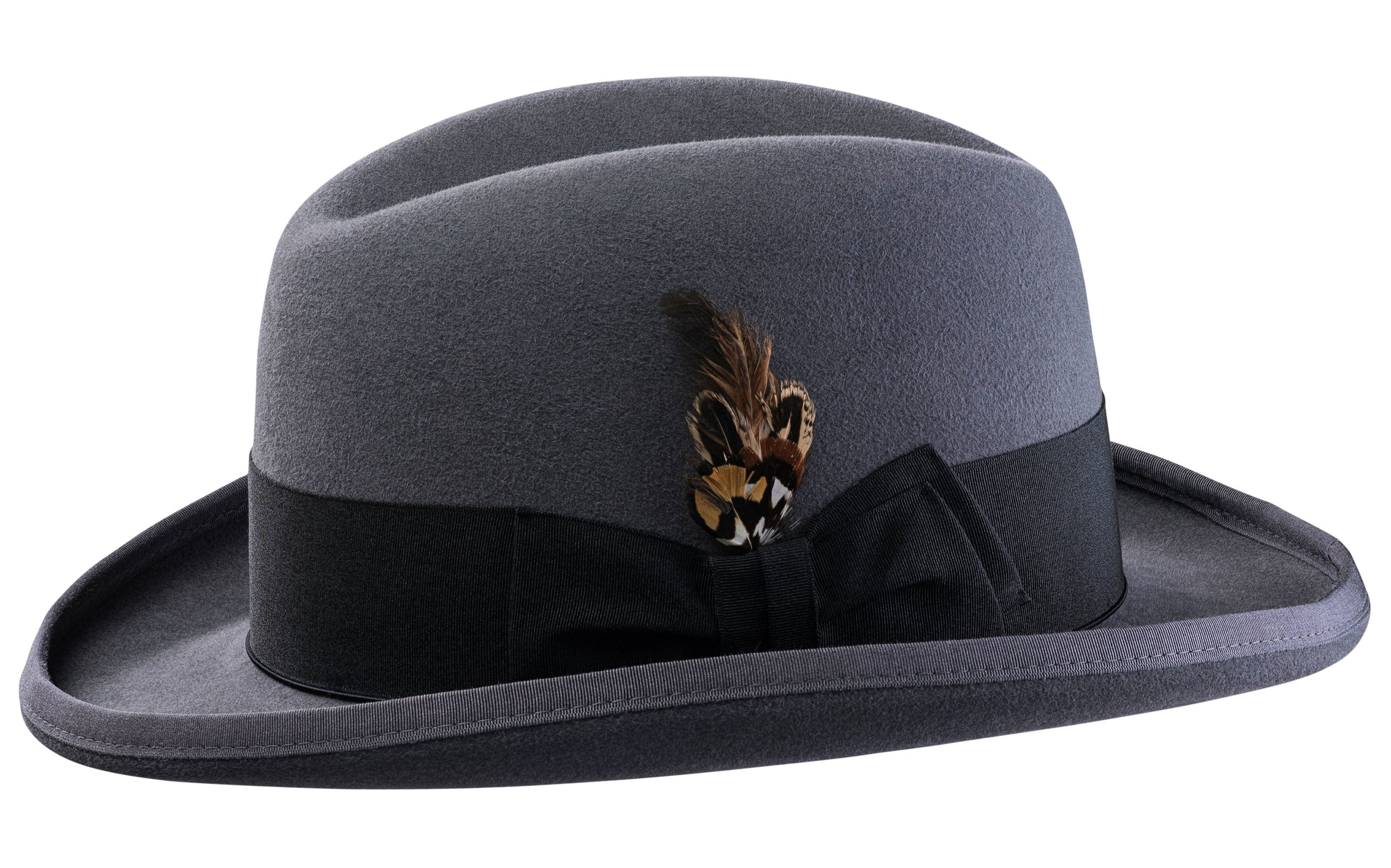 Alpha Godfather Homburg Classic Hat Formal Hat Selentino Hat Selentino Hats Men's traditional wool black homburg hat. alpha godfather homburg classic hat formal hat selentino hat selentino hats