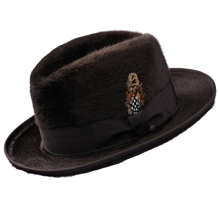 Alpha Godfather Homburg Beaver Hat