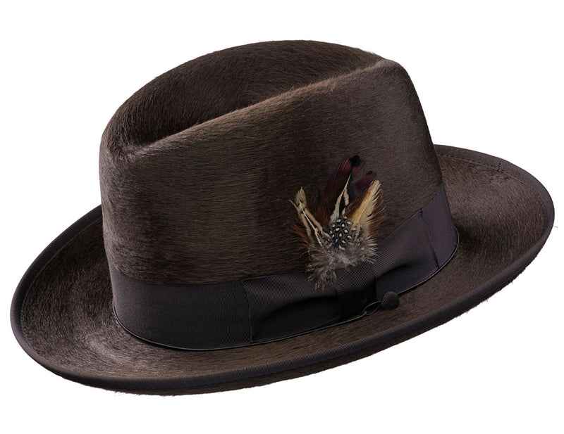 Alpha Godfather Homburg Beaver Silk Hat
