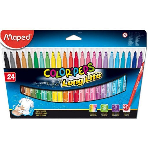 Marcadores Color'Peps Long Life de 24 Pzas.