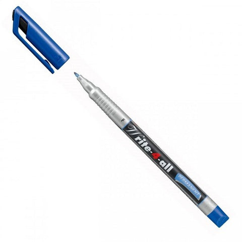 Micropen White-4-All Permanent para CD tinta color azul