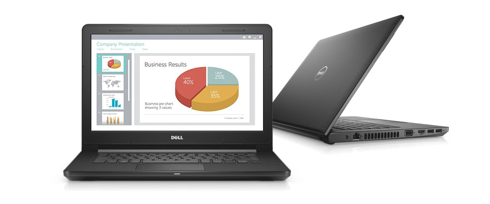 DELL Vostro 14 Series 3468, Intel Core i5-7200U 7ma gen(2.5GHZ to 3.1G,3mb), RAM 8GB (8Gx1), Gigabit