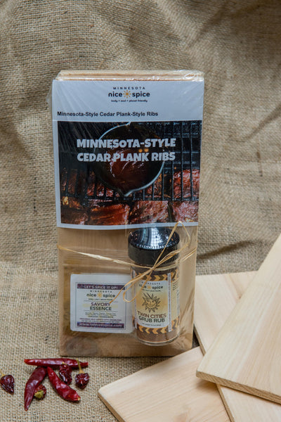 Twin Cities Rub Cedar Plank Gift Set