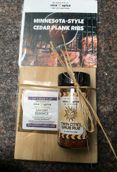 Twin Cities Rub Cedar Plank Ribs Gift Set